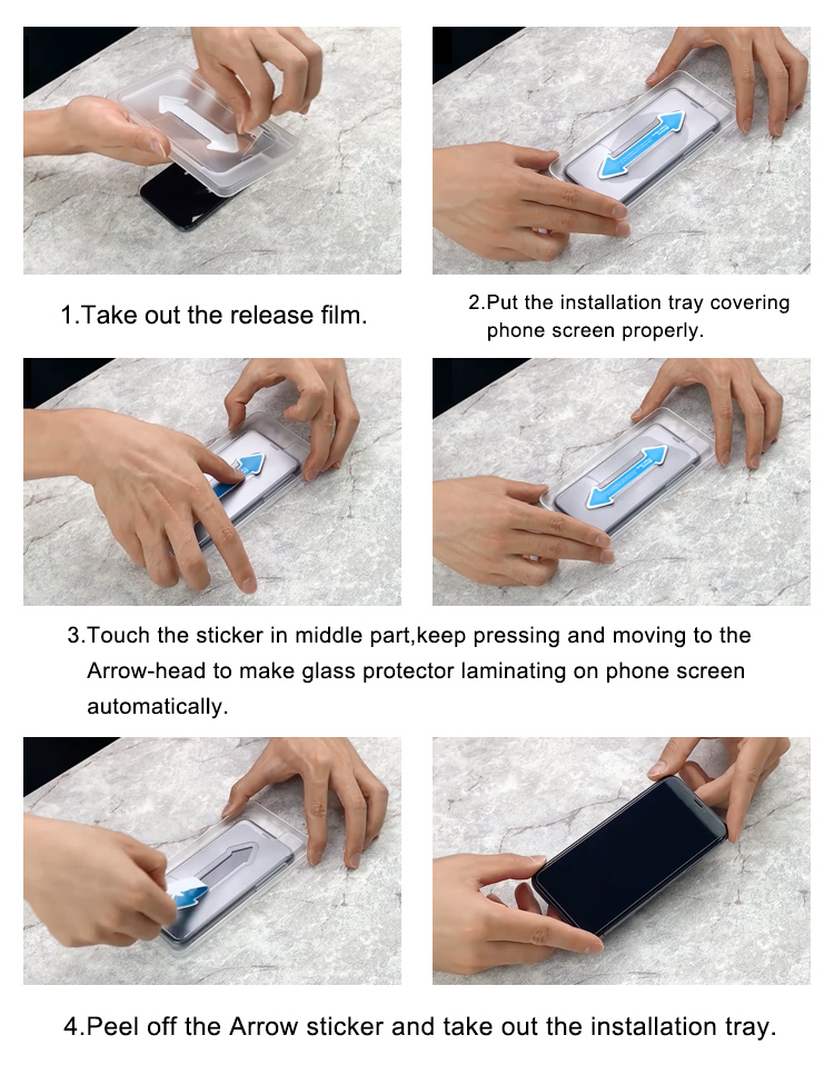 iphone xr tempered glass screen protector easy applicator tool