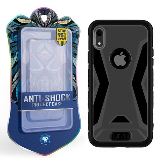 0fa9a530374 Fundas protectoras de caucho híbrido para el iPhone XR Funda protectora  contra golpes a prueba de