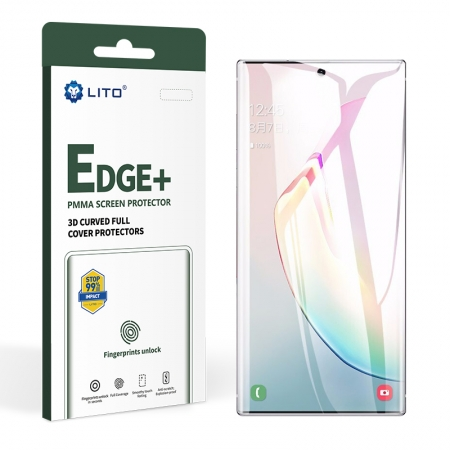 Edge + Full Coverage Full Glue Protector de pantalla de vidrio PMMA para Samsung Galaxy Note10